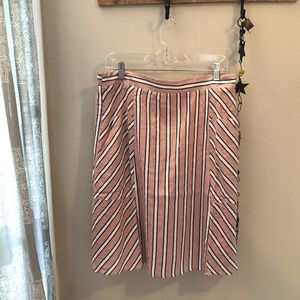 ROOLEE pink, white, navy stripe skirt with pockets